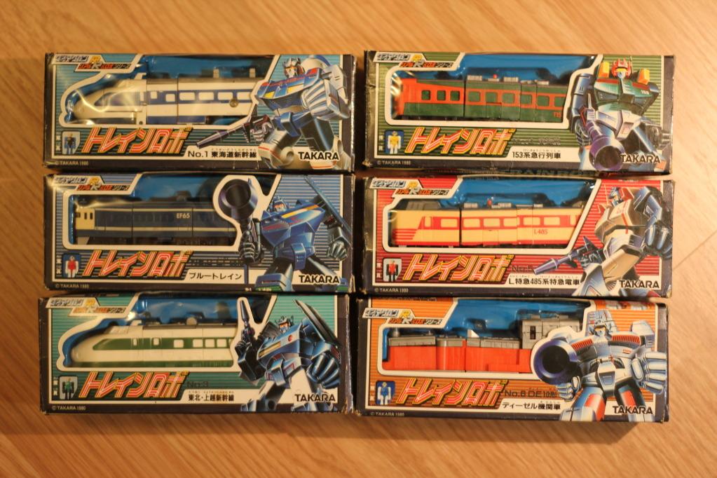 Takara Diaclone Train Robo / Raiden / Raideen boxed set