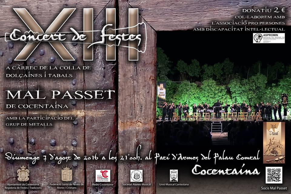 XIII CONCERT DE FESTES de la COLLA DE DOLÇAINES I TABALS MALPASSET