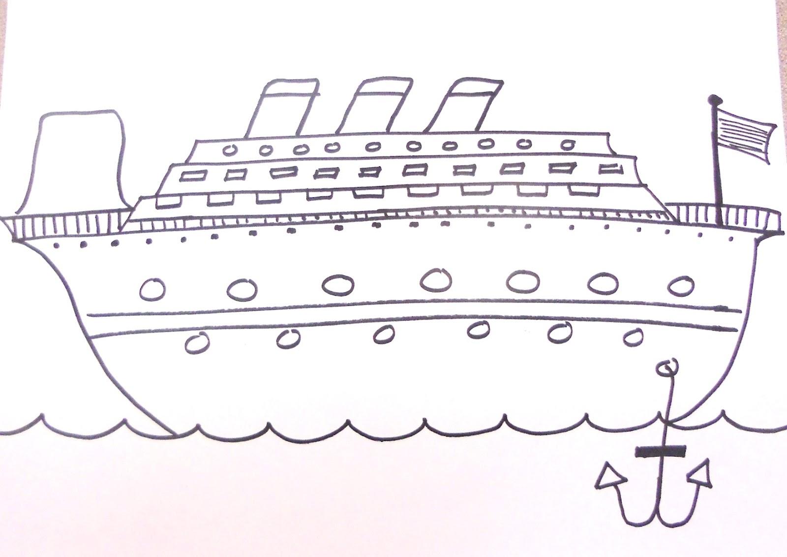 Cruise Ship Drawing Fitbudhacom - Draw a cruise ship