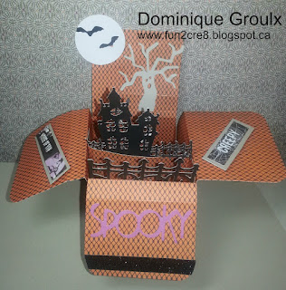Haunted House Halloween pop up box card