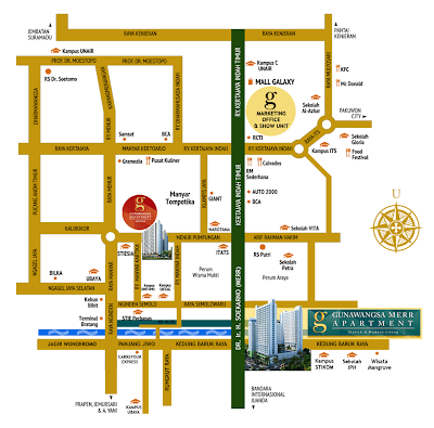 Lokasi Apartemen Gunawangsa Merr Surabaya