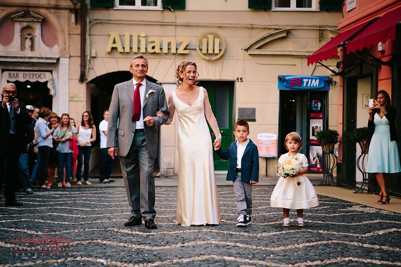arrivo della sposa matrimonio Varazze