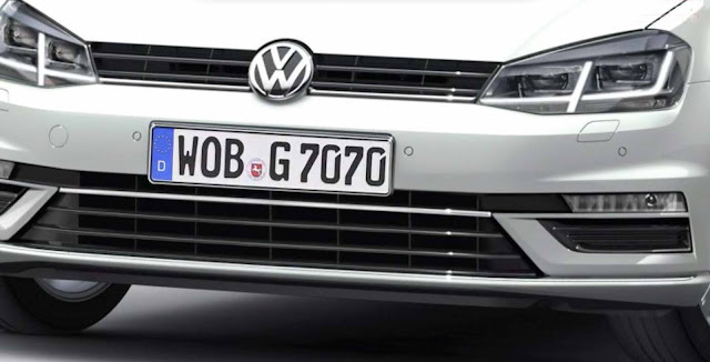 VW Golf 2017 com facelift - dianteira