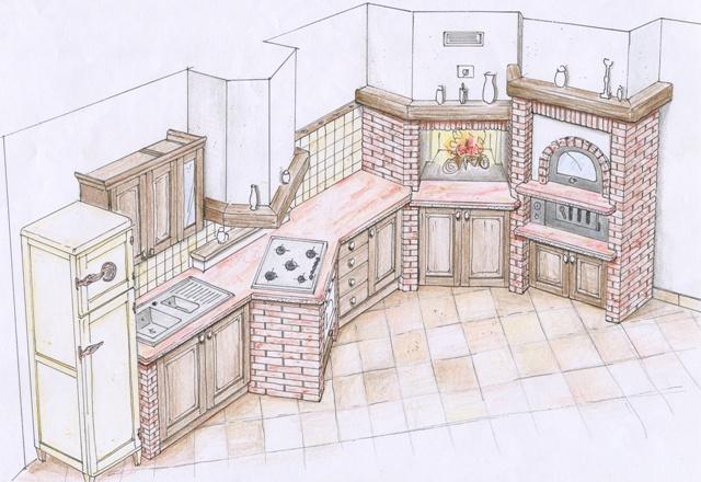 Come Costruire Una Cucina Finta Muratura. Affordable Cucine In ...