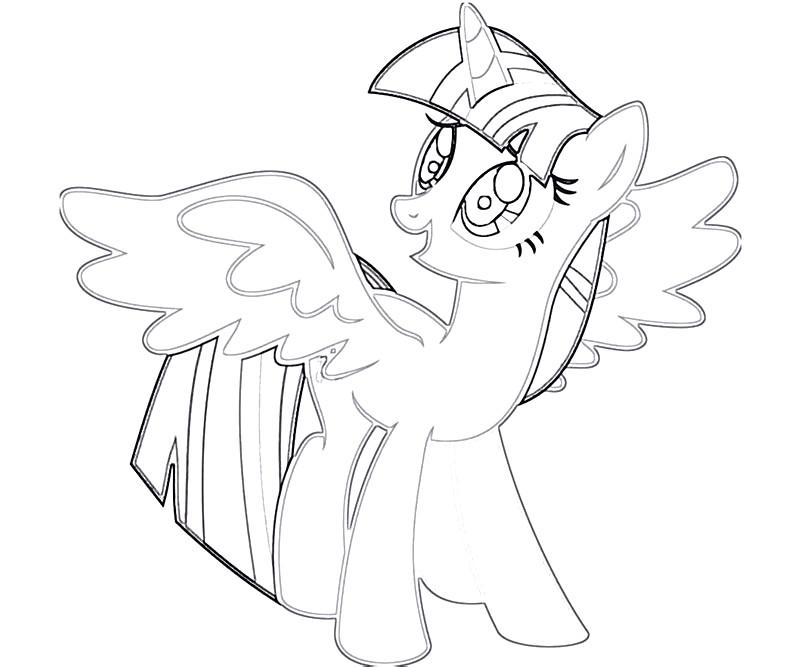 Coloring Pages Of Princess Twilight Sparkle : Twilight sparkle coloring page