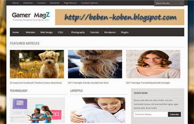 Gamer-Magz-Blogger-Template-free
