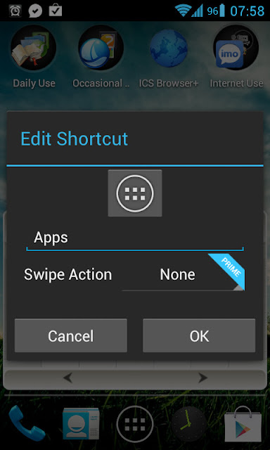 Shortcut menu