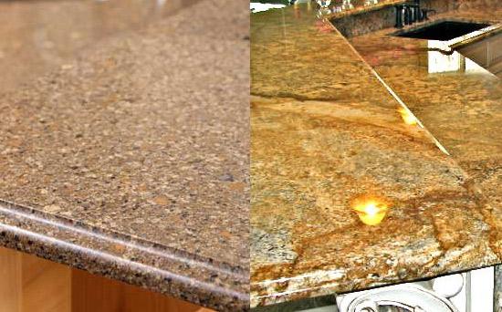 Is quartz countertops man made home improvement for Quartz vs granite counter tops
