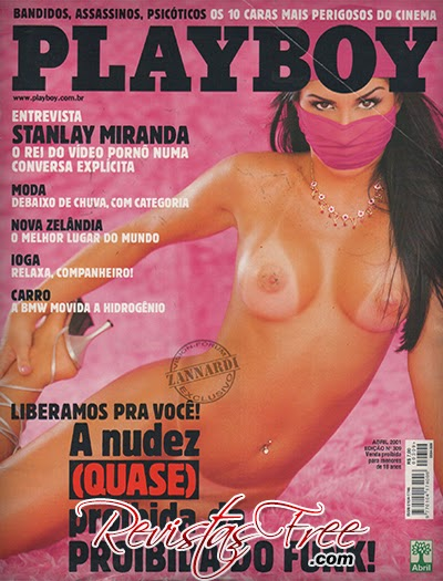 Revista Playboy - Proibida do Funk - Abril 2001