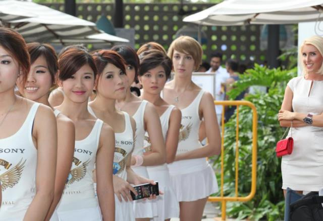 sentosa xperia fashion show