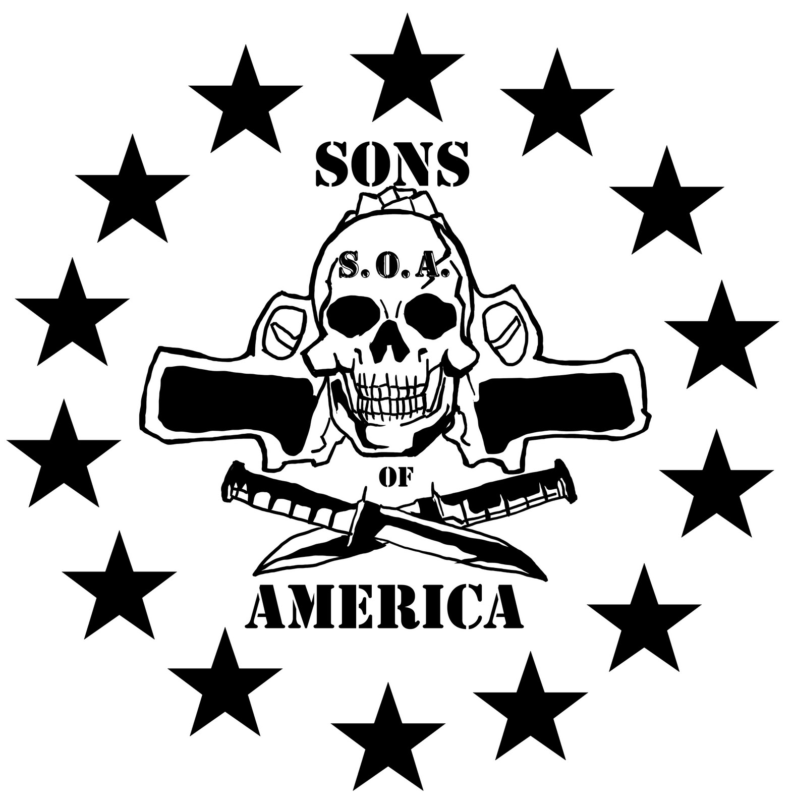 Endgame sons of america sons of america badge of honor the sons of america logo is a badge of honor it means that crusher raven black wolf firefly heavy d and red are not only a team but family biocorpaavc Choice Image