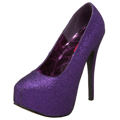 purple shoes 2013 high heels wedge teeze