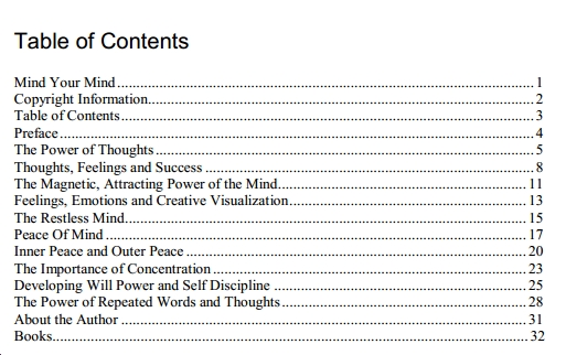 contents of the book Mind your Mind by ramez sasson