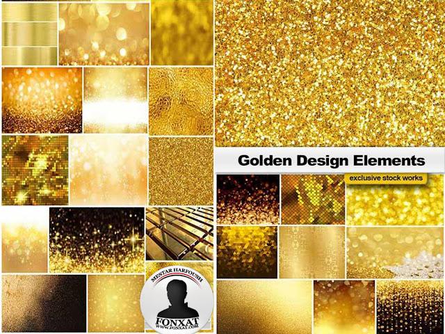 خلفيات ذهبية روعة عالية الجودة تصلح خامات للتصميم