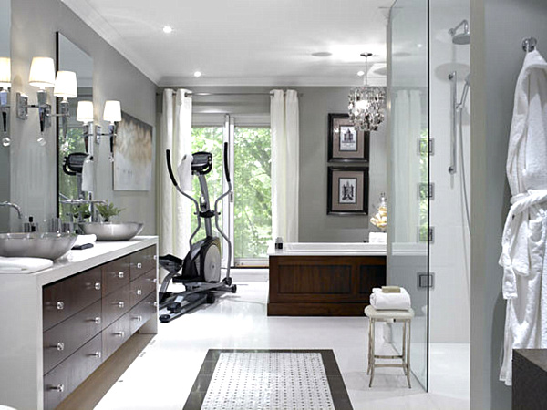 White And Gray Bathroom Ideas