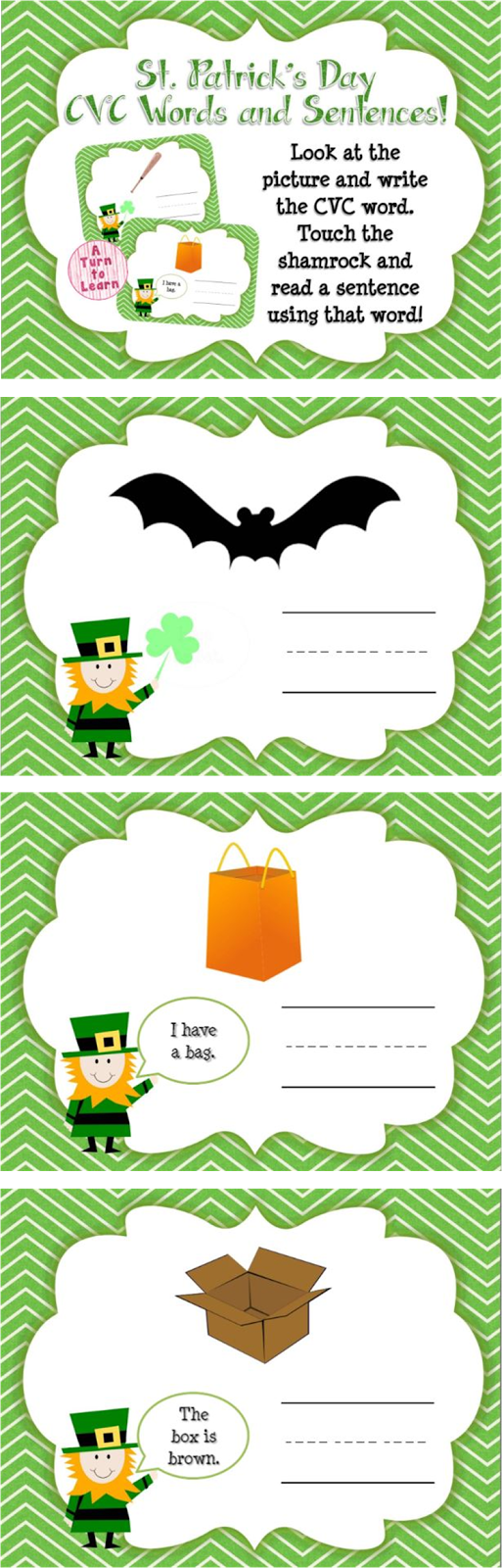 http://www.teacherspayteachers.com/Product/St-Patricks-Day-CVC-Words-and-Sentences-Smartboard-Game-1162867