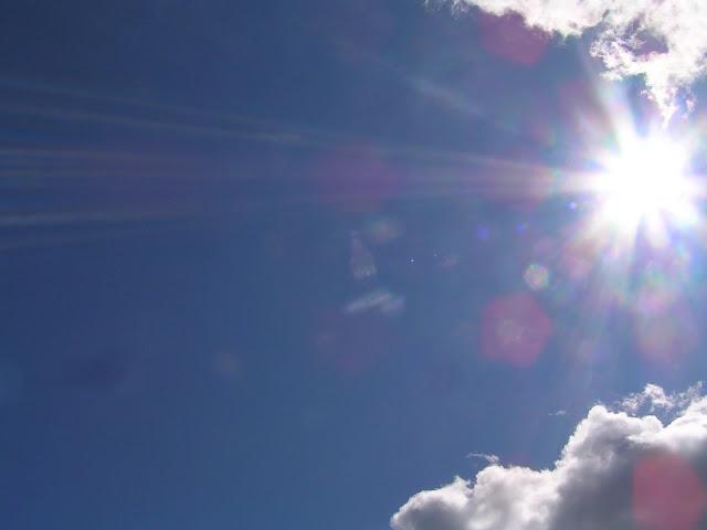 небо солнце облака