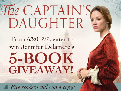 The Captain's Daughter by Jennifer Delamere | Blog Tour and 5-Book Giveaway