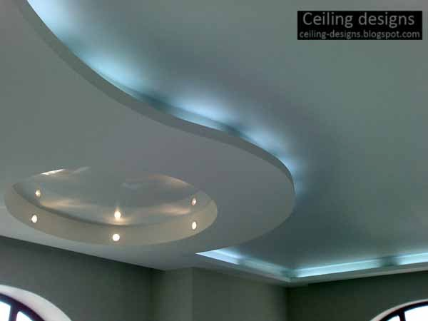 Curved Ceiling, Curved Gypsum Ceiling Designs For Living Room With Creative  Lighting Ideas