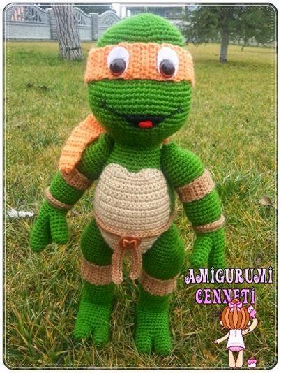 Amigurumi Tartarughe Ninja : Amigurumi Cenneti: Ninja Turtles - Michalengelo - Amigurumi
