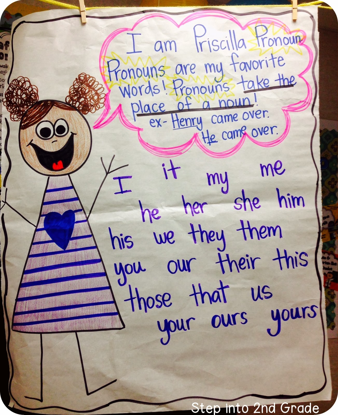 Step into 2nd Grade with Mrs. Lemons: Pronouns!
