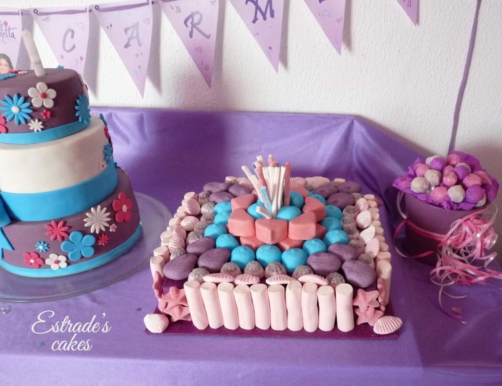 tarta de chuches Violetta - 4
