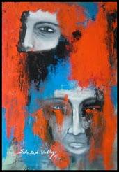 Art creativo-esoterico NVG.titulo:Tristes guerras-.acrilico sobre madera