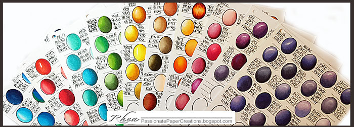passionate paper creations copic color combo sheets