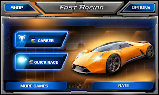 Screenshots of the Fast Racing 3D for Android tablet, phone.