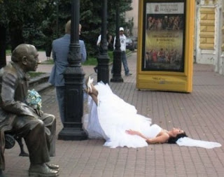 funniest pictures: bridegroom and bride resting