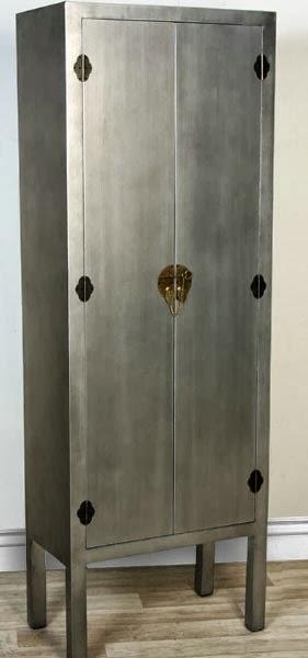 Armario plateado oriental, armario alto chino