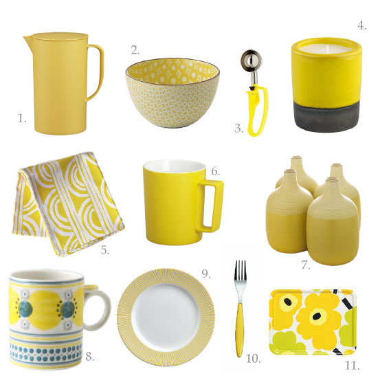 Chocolate shavings jenn 39 s favourite kitchen things mellow yellow - Home accessories yellow ...
