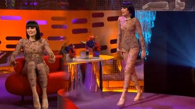 Jessie J, body suit at Graham Norton show, London, 2011.