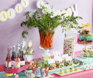 Mesa decorada para páscoa