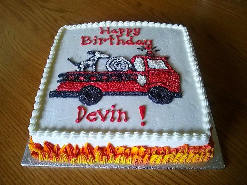 Simply Sweet Firetruck Birthday Cake