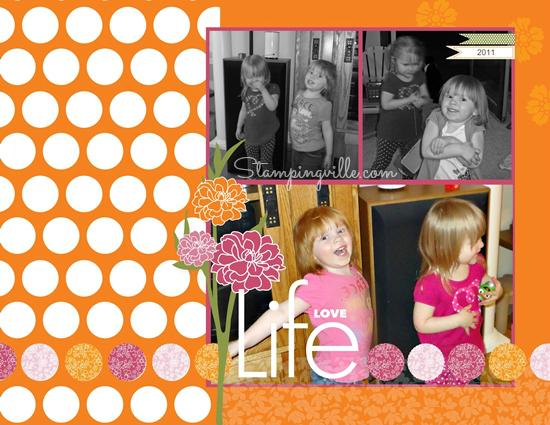 Stampin' Up! Playful Polka Dots Designer Template