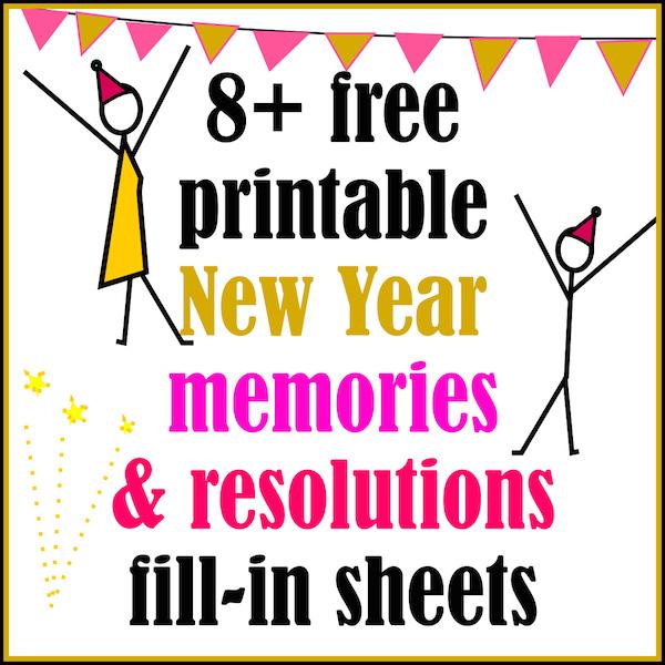 8 free new year memories resolution printables ausdruckbarer jahresrckblick round up