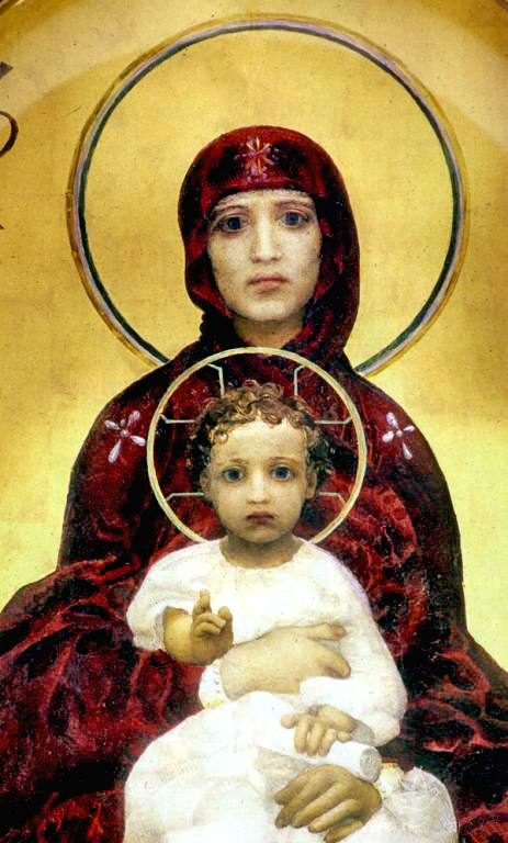 "M.Vrubel,  ""The Blessed Virgin Mary With Child"""