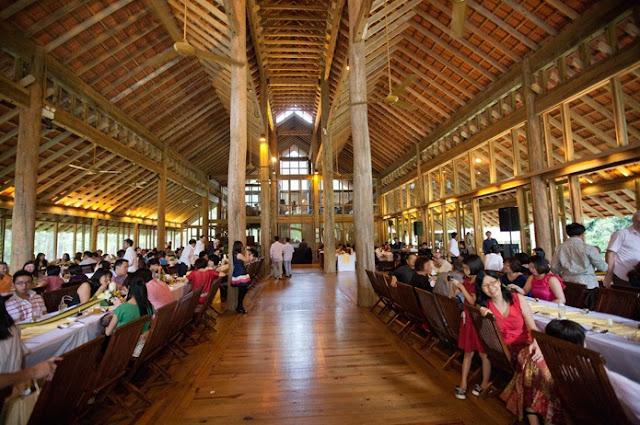western style wedding reception