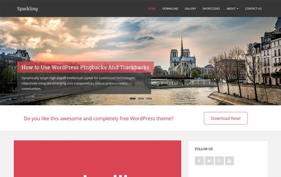 Sparkling Responsive WordPress Theme