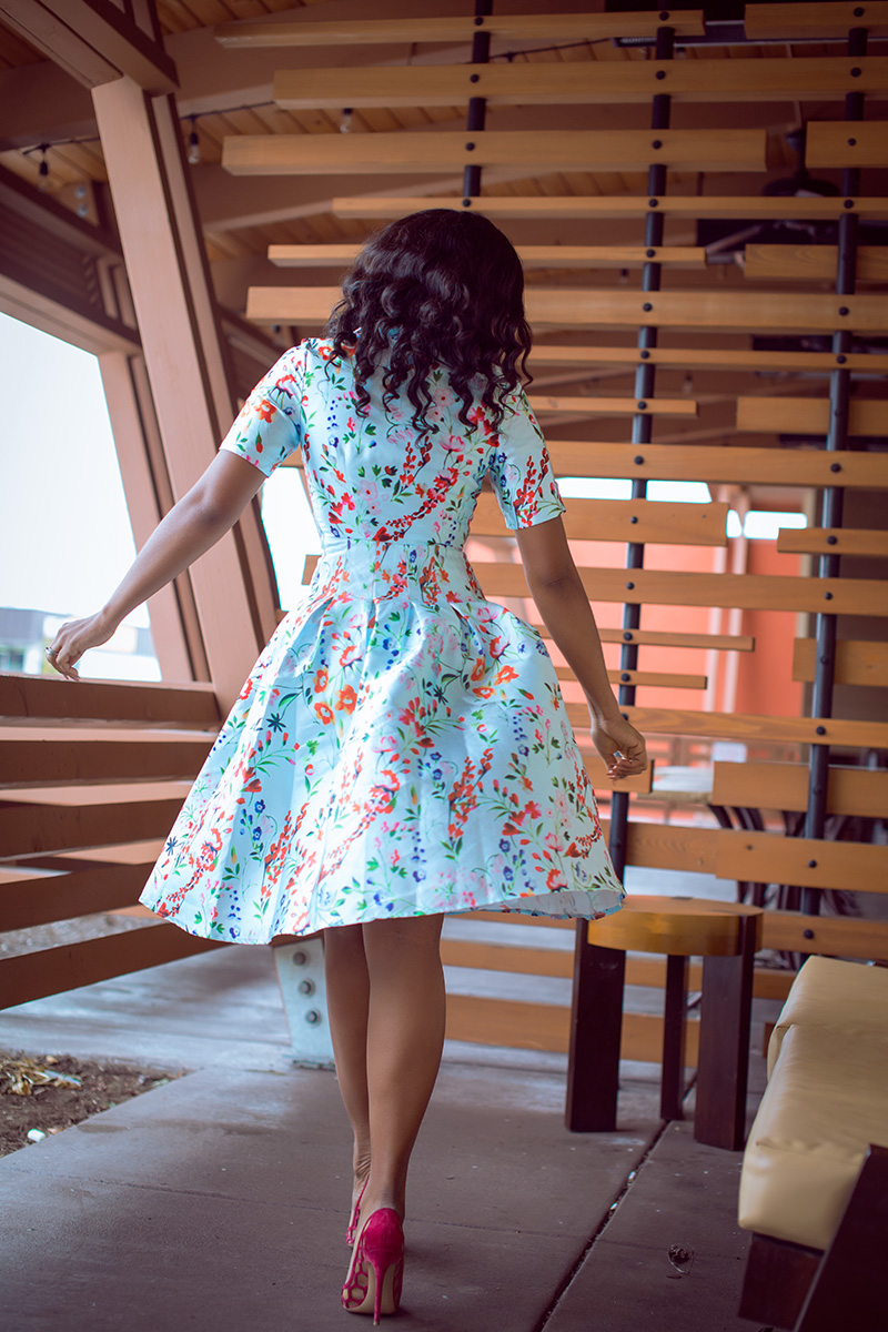 valentines day style, Midi Dress, floral dress, gianvito rossi pumps, www.jadore-fashion.com