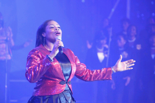 Image result for sinach on stage