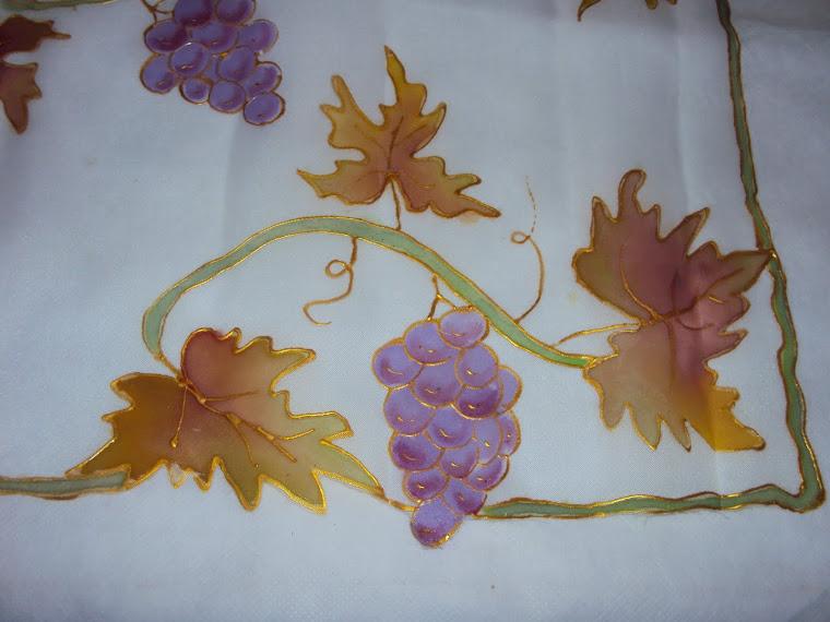Pintura em Voil - Cachos de Uva