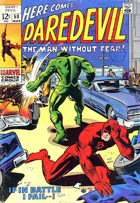 Daredevil v1 #50 marvel 1960s silver age comic book cover art by Barry Windsor Smith