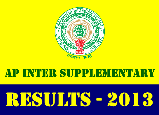 Manabadi AP Inter Supplementary Results 2013 at www.results.cgg.gov.in