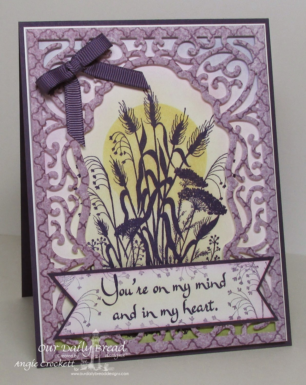ODBD Miss You, ODBD Custom Vintage Flourish Pattern Dies, ODBD Christian Faith Designer Paper Collection,  Card Designer Angie Crockett