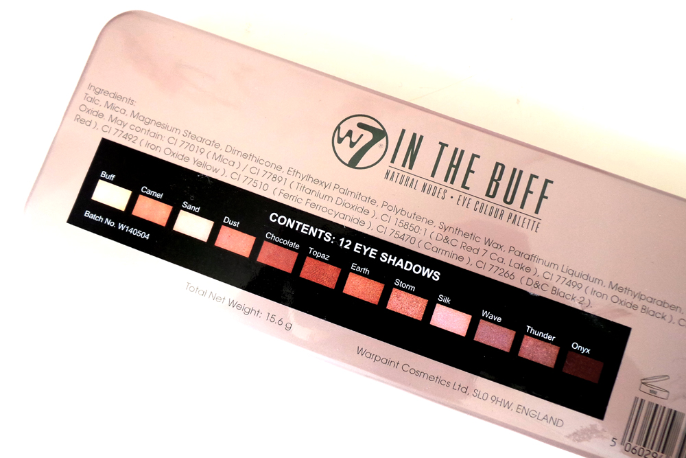 W7 In the buff eyeshadow palette, w7 in the buff review, w7 eyeshadow palette review, natural nude eyeshadow palette review, w7 in the buff palette swatches image, best natural eye palettes, beauty blog, beauty blogger, uk beauty blog, uk beauty blogger,