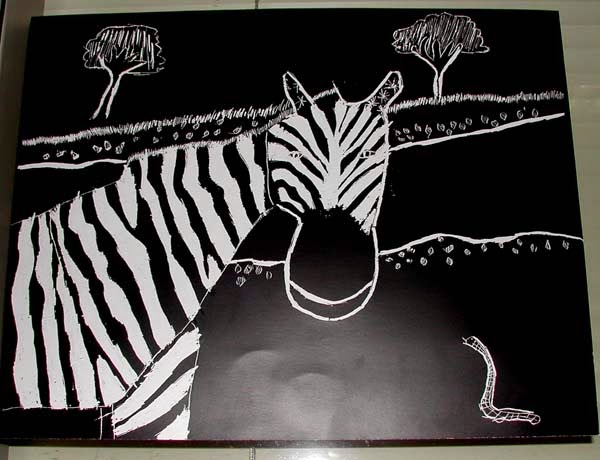 SCRATCH BOARD ART Perfect For Black And White Animals Other Subjects Too
