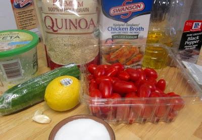 Салат из кинуа с овощами