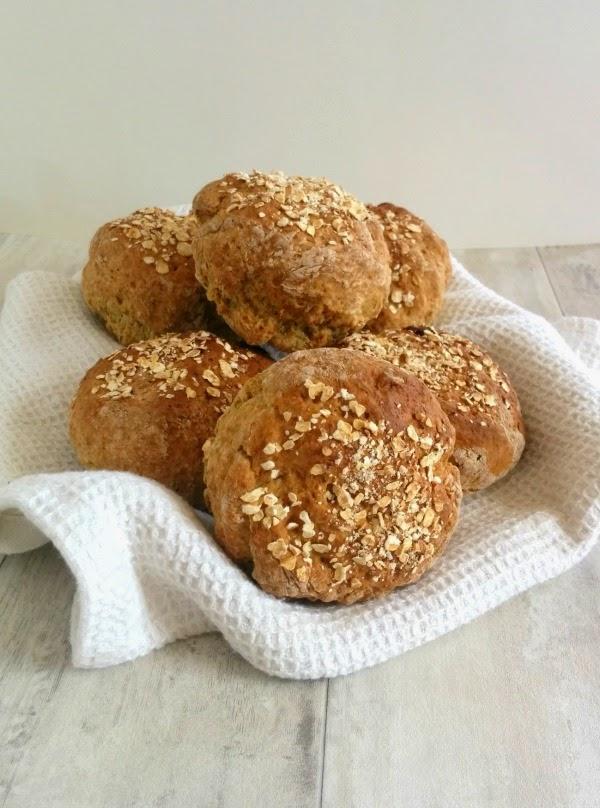 Rye Soda Bread Rolls